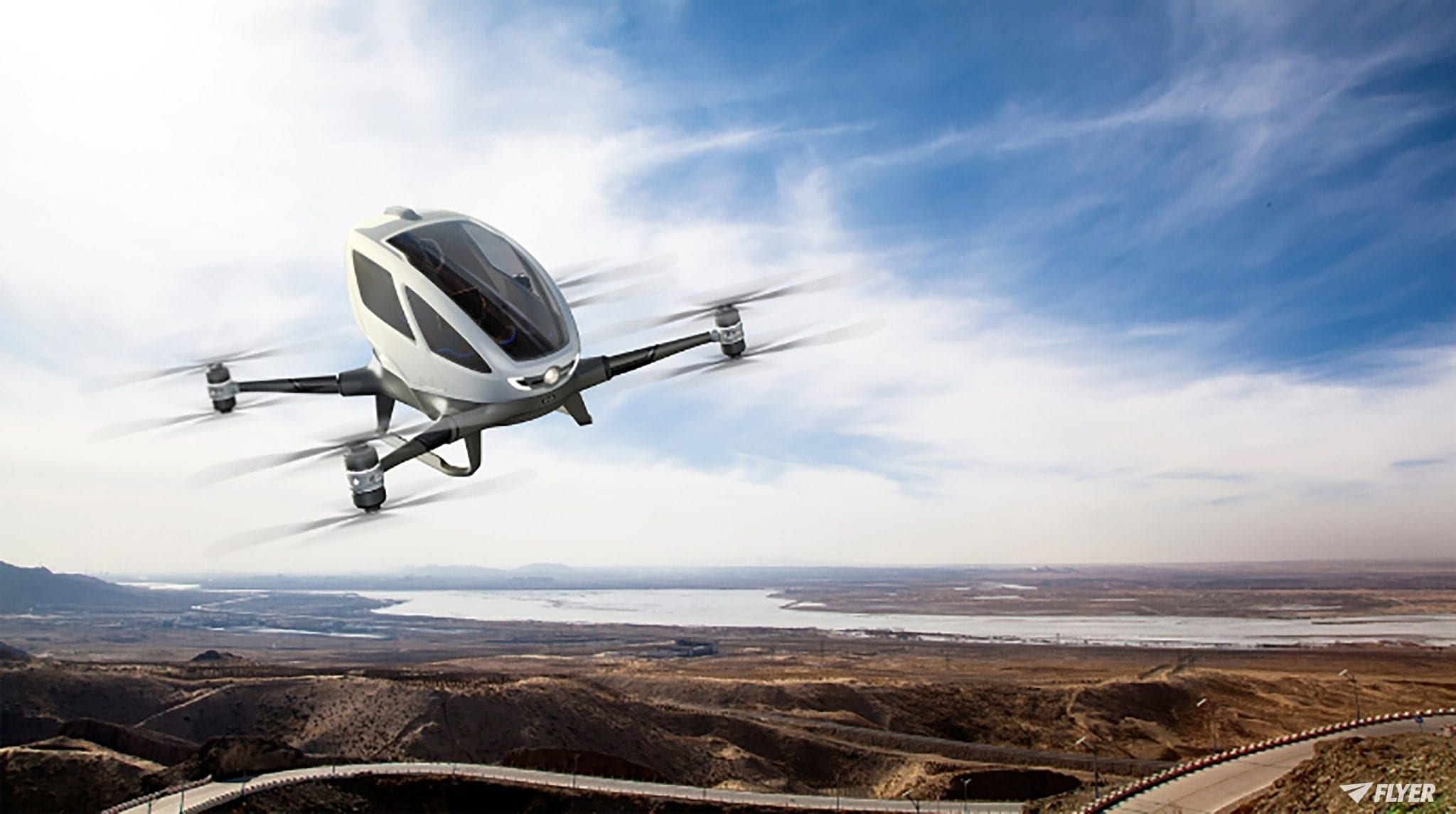 This autonomous drone which carries one person has been given the go ahead for trials.